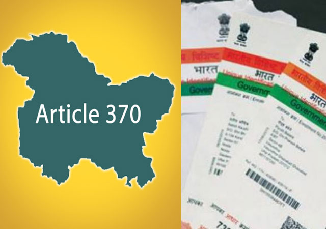 Article 370 abrogated: Govt now to push for complete Aadhaar enrolment in J&K