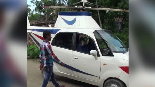 This man from Bihar turns his Tata Nano car into Helicopter that can't fly!