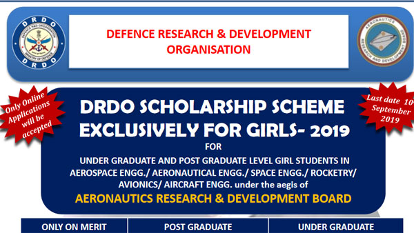 DRDO Scholarship for girls 2019: Earn upto 1,86,000 for UG, PG courses; check details