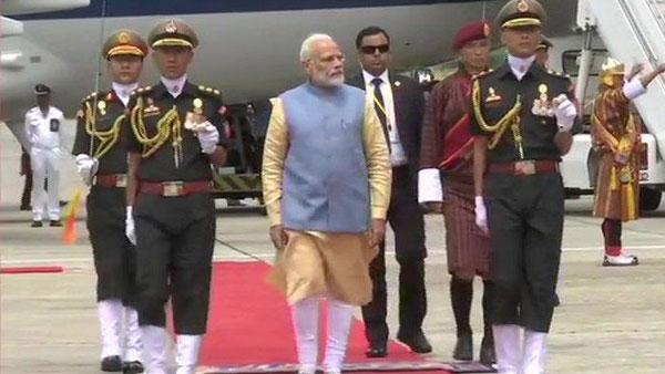 [PM Modi receives Guard of Honour in Bhutan, to hold bilateral talks]