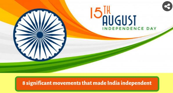 India's freedom struggle - 8 important movements (Click on the image below)