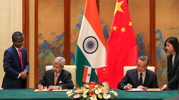 External Affairs Minister S Jaishankar signs memorandum of agreements with Chinese foreign minister Wang Yi in Beijing
