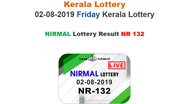 Kerala Lottery Nirmal NR-132 result today LIVE at 3