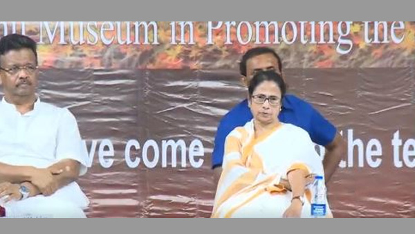 West Bengal Chief Minister Mamata Banerjee along with Mayor Firhad at the inauguration of worlds first museum on Sri Chaitanya Mahaprabhu