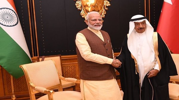 Prime Minister Narendra Modi held comprehensive talks with his Bahraini counterpart Prince Khalifa Bin Salman Al Khalifa