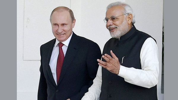 File photo of Vladimir Putin and Narendra Modi
