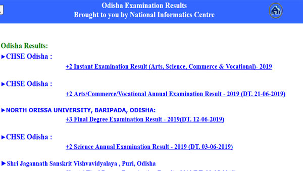 Odisha +2 instant exam result 2019 declared on this website