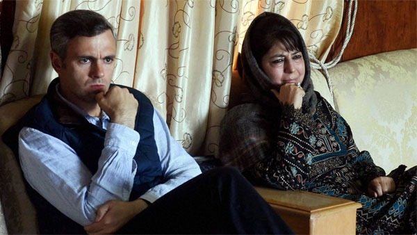 File photo of Omar Abdullah and PDP leader Mehbooba Mufti