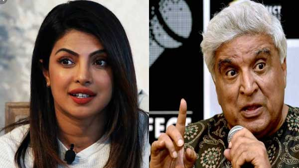 Eminent lyricist Javed Akhtar and Actress Priyanka Chopra