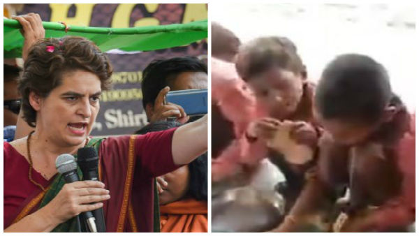General secretary of AICC in charge of eastern UP Priyanka Gandhi tweets on the video of children given roti and salt in mid-day-meal