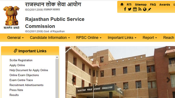 Full list of RPSC Extended SI result: Download here