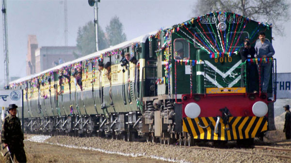 file photo, is seen Samjhauta Express train coming from Lahore, crossing Indo-Pakistan border after a gap of two years, on its way to Attari Station. Pakistan stopped Samjhauta Express on their side at Wagah border on Thursday, Aug 08, 2019, citing security concerns.