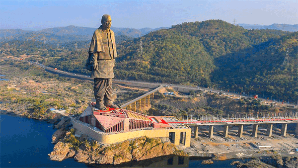 A view of Statue of Unity