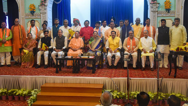 UP 23 MLAs take oath in first Yogis cabinet reshuffle