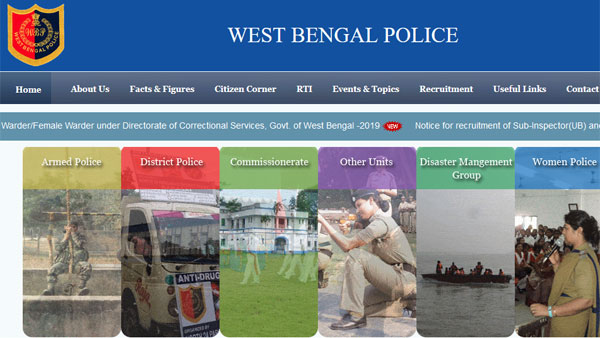 Direct link to check WB Police Final result 2018 for SI, Lady SI posts, notice board address details