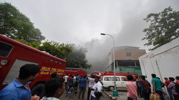 Fire fighting operations went on for close to 5 hours