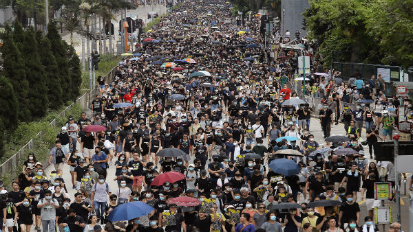 File photo of Hong Kong protests