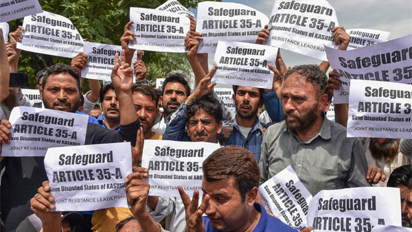 Article 35A: Centre firm on abrogation, some decision expected this month