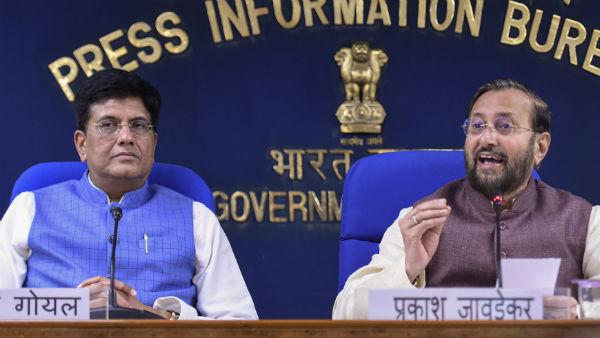 Piyush Goyal and Prakash Javadekar