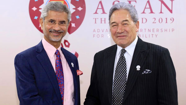 Jaishankar discusses bilateral ties with New Zealand, Thai counterparts