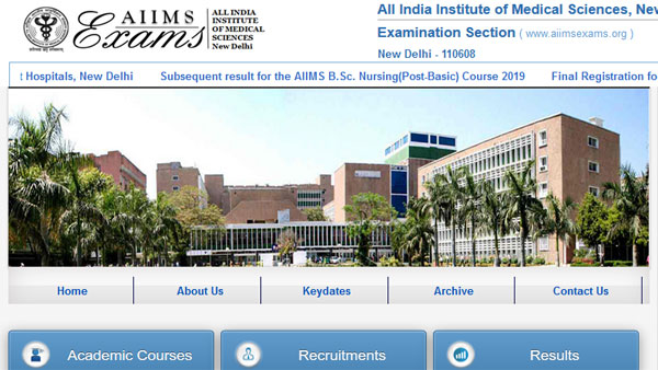AIIMS Senior Resident Competitive Exam 2019 date details
