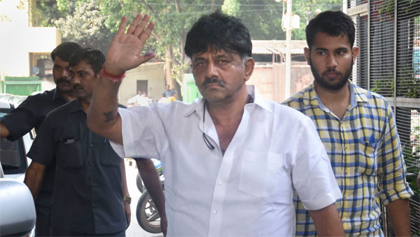 D K Shivakumar brought to ED office for more questioning