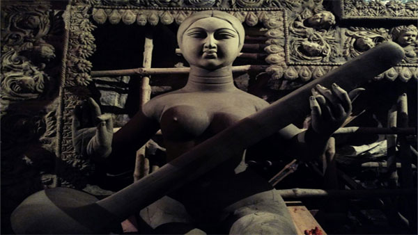 Durga idol making