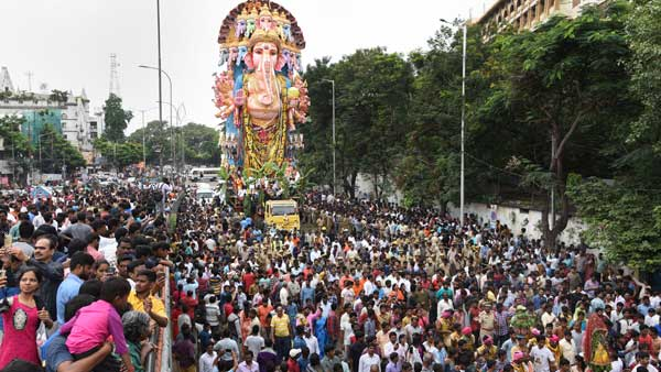 How is Ganesh Visarjan performed?