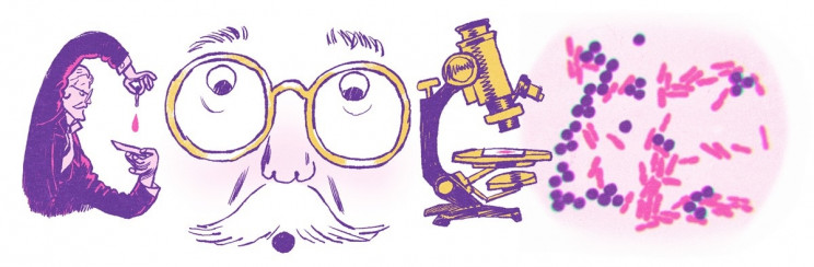 Google doodle celebrates Microbiologist Hans Christian Gram 166th birthday