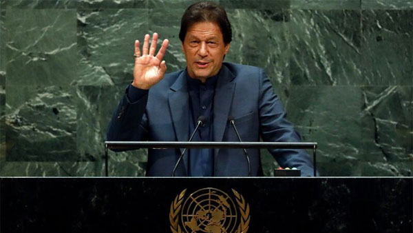 Number of times Imran Khan used 'Kashmir', 'Islam', 'India' and 'Modi in his UNGA speech