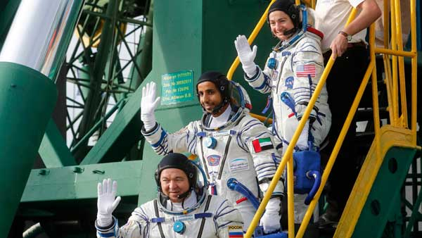 UAE in Space: Emirati becomes first Arab to reach ISS; Burj Khalifa lights up