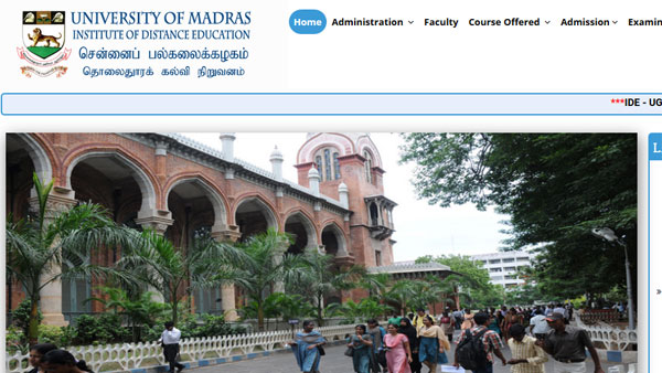 How to download Madras University Distance Education result 2019