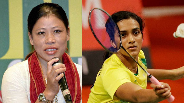 File photo of Mary Kom and PV Sindhu