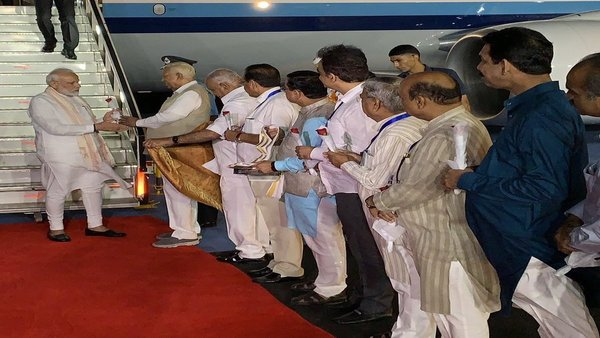 PM Modi arrives in Bengaluru to witness Chandrayaan-2s landing