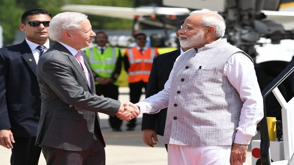 Prime Minister Modi received by US Ambassador to India Kenneth Juster