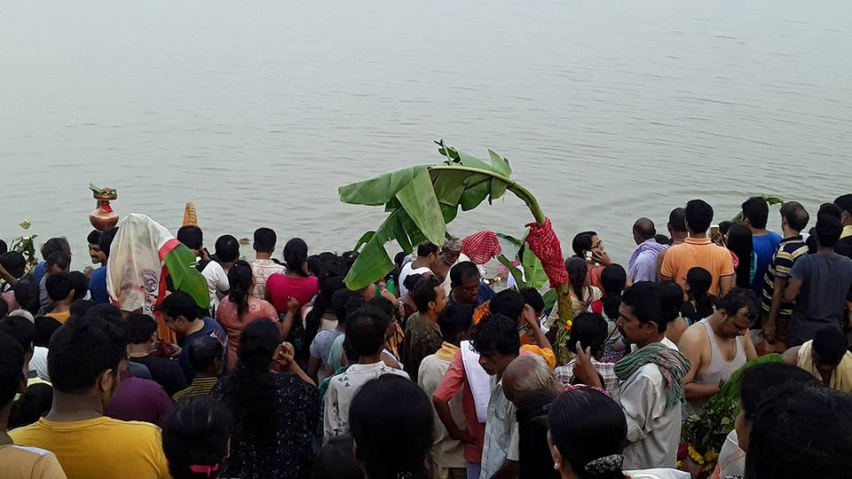 Nabapatrika bath in Baghbazar Hooghly river bank