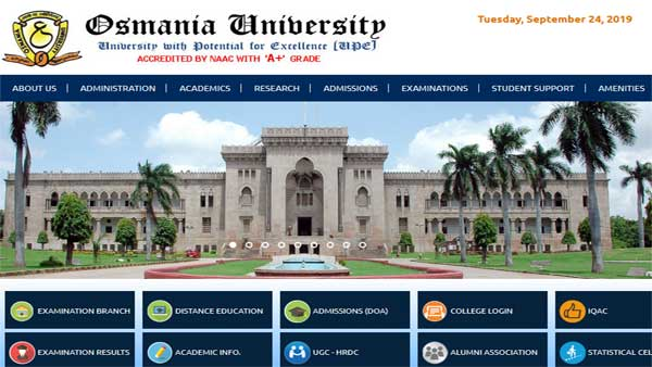 Direct links to check Osmania University revaluation result 2019
