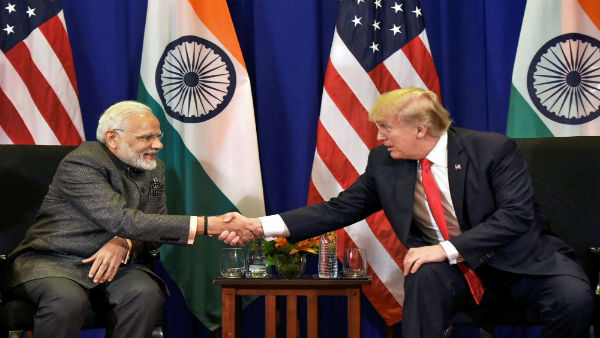File Photo of Narendra Modi meeting with US President Donald Trump