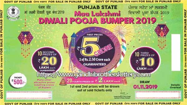 Punjab State Diwali Bumper lottery 2019: Online sale begins, 1stprize Rs 5 crore