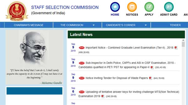 SSC GD Constable result 2019 revised: Check revision of answer key here