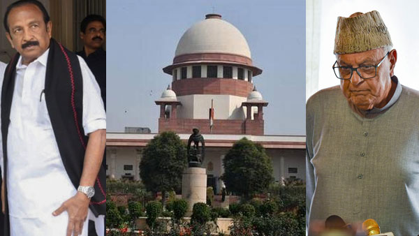 Kashmir related pleas to be heard by 5 judge Bench: SC rejects Vaiko's petition on Farooq Abdullah