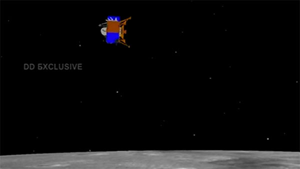 Soft landing of Vikram module of Chandrayaan 2 on lunar surface