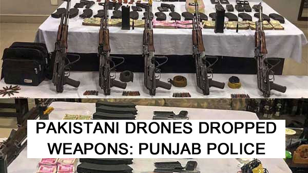 Cops find Pakistani drone used to drop weapons in Punjab