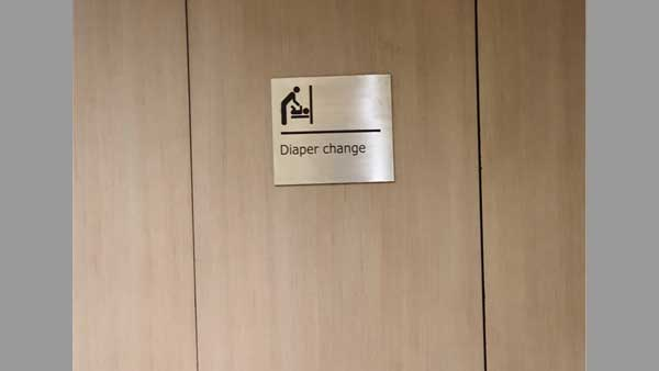This picture of Diapar changing room in men's loo at B'luru airport is winning the internet
