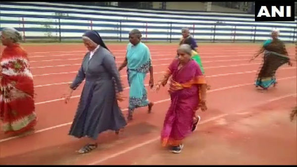 72-year-old brisk-walks 200m to victory