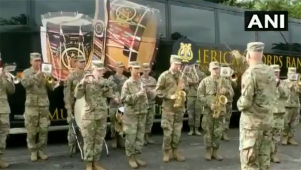 Watch: Jana Gana Mana played by US Army band during Yudh Abhyas 2019