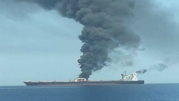 Iran-owned oil tanker 'hit by two rockets' near Saudi Arabia port