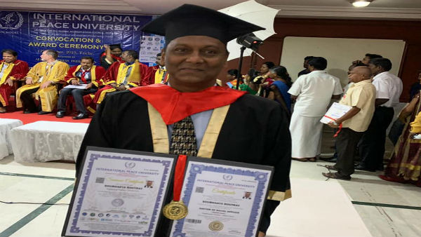 Soubhagya Routray, gets awarded Doctorate from The International Peace University, German for Social Work