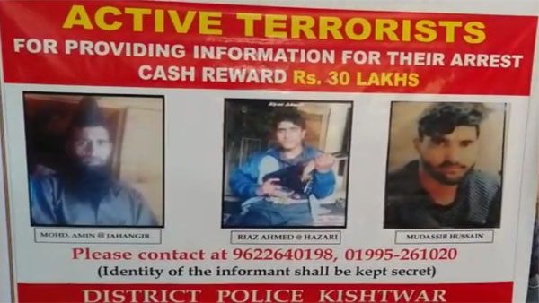 Cleaning the Valley: Cops announce Rs 30 lakh reward for top three terrorists