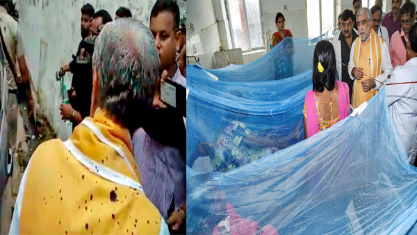 Ink thrown at Union Minister Ashwini Choubey